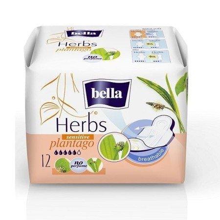 Komfortowe Podpaski Bella Herbs Sensitive 12 SZT