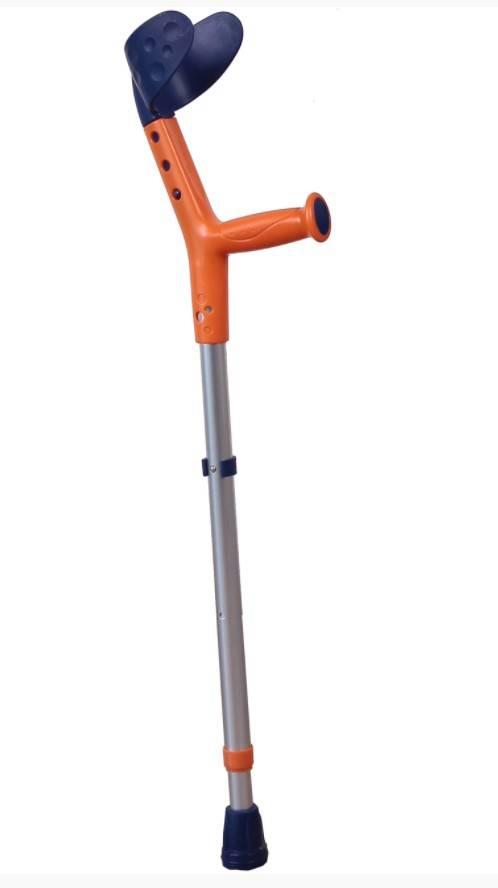 Kula inwalidzka łokciowa Tiki dla dzieci pomarańczowo-granatowa