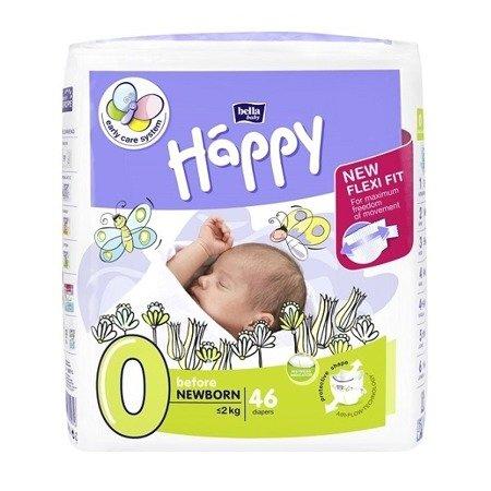 Pieluszki Happy Before New Born 46 SZT