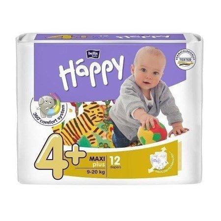 Pieluszki dla dzieci Happy Maxi Plus 12 SZT