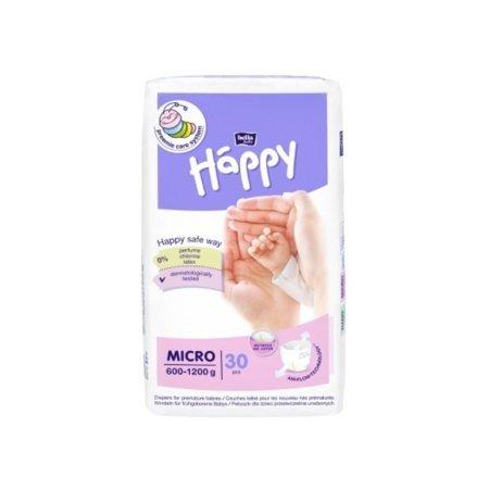 Pieluszki dla wcześniaków Bella Baby Happy Micro 600-1200g 30szt.
