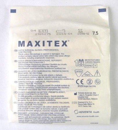 Rękawice Chirurgicz. Sterylne pudrowane Maxitex6,5