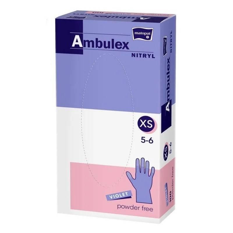 Rękawice niejałowe Ambulex nitrylowe niep. fiolet
