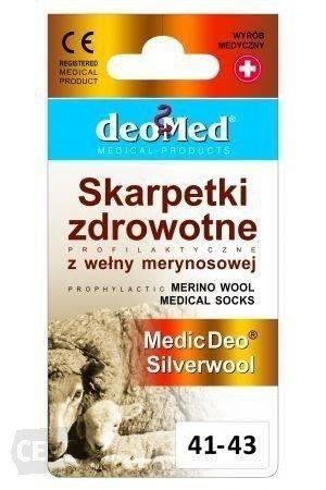 Skarpetki zdrowotne Medic Deo Silverwool czarne