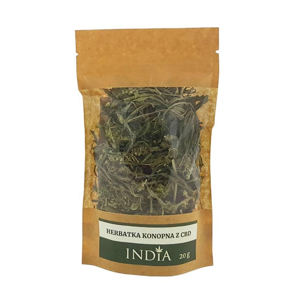 India Herbatka konopna (CBD występuje naturalnie w roślinie) 20 g