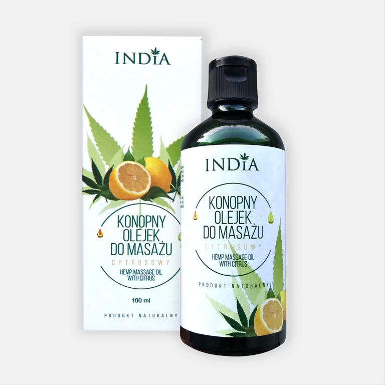 India olejek do masażu cytrusowy 100ml