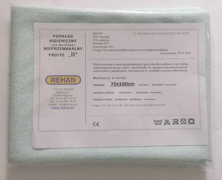 Podkład do ochrony materaca, Frott/PCV 70x100cm