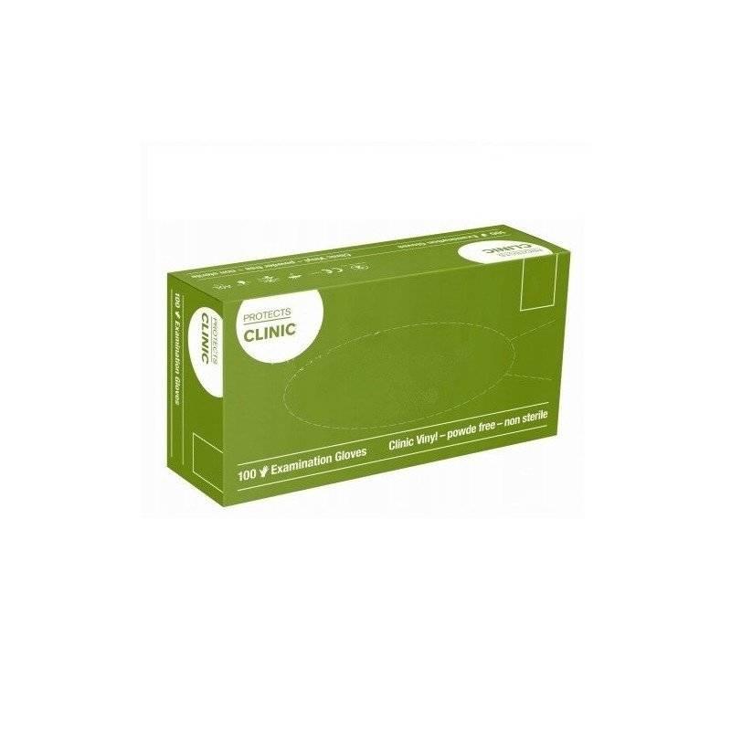Rękawiczki niejałowe vinylowe niepudrowane protects clinic 100 szt