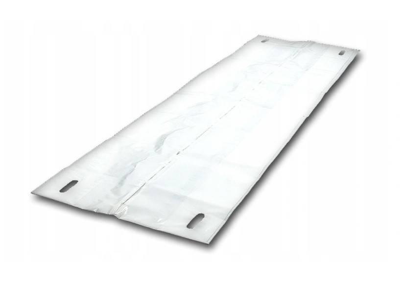 Worek na zwłoki z folii biały 90x220cm z zamkiem
