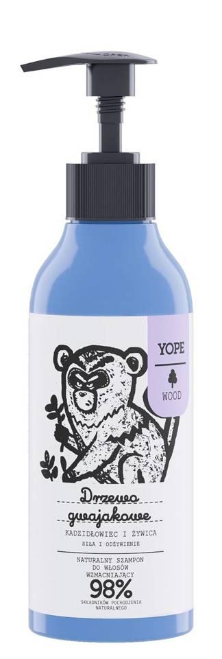 YOPE WOOD szampon wzmacniający drzewo gwajakowe kadzidłowiec żywica 300ml